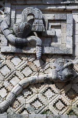 Snakes, Relief on the West Wing, Nunnery Quadrangle, Uxmal Archaeological Site