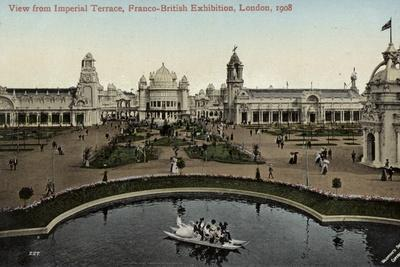View from the Imperial Terrace, Franco-British Exhibition, White City, London, 1908