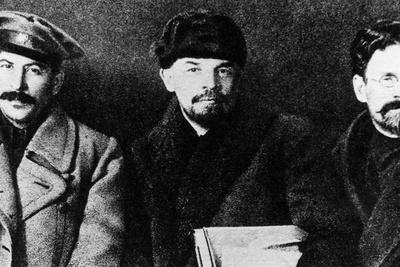 Stalin, Lenin and Kalinin at the Eighth Congress of the Russian Communist Part, 1919