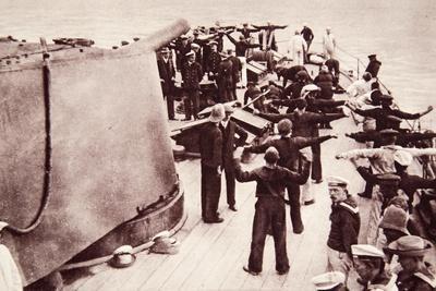 Including Captain Von Muller and Prince Francis Joseph: 'Emden' Prisoners on a British War-Ship