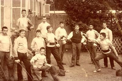 Fencing Class at the Lycee Notre-Dame De Sainte Croix De Neuilly-Sur-Seine, C.1890