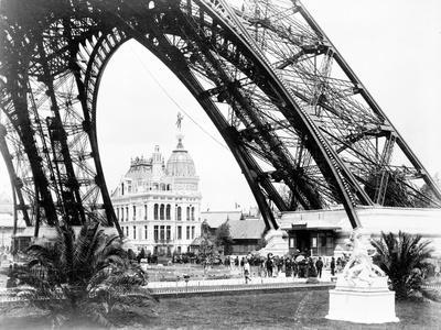 The Gas Pavilion Seen Through the Base of the Eiffel Tower, Paris Exhibition, 1889
