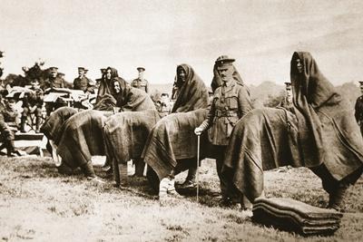 Camel Race, London Irish Rifles Regimental Sports Day, from 'The Illustrated War News'