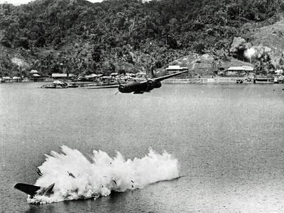 Two of Twelve U.S. A-20 Havoc Bombers on a Mission Against Kokas, Papua, Indonesia, July 1943