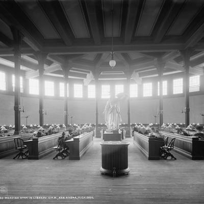 Reading Room in Library, University of Michigan, Ann Arbor, Michigan, C.1901