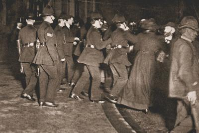The Women's Freedom League Attempting to Enter the House of Commons, 28th October 1908