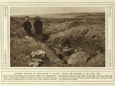 Treasures Unearthed by Trench-Diggers in Gallipoli, Ancient Urns Discovered in the Allies' Lines
