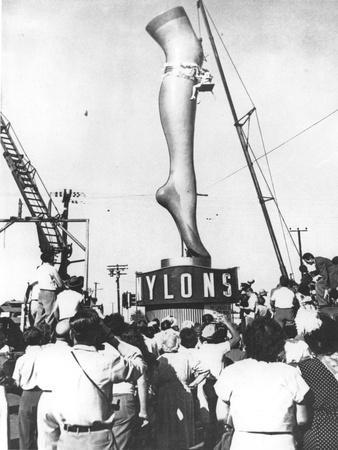A Two-Ton Model of Actress Marie Wilson's Leg, Produced to Advertise a Los Angeles Hosiery Shop