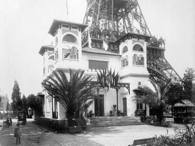 Pavillion of Monaco, with Base of the Eiffel Tower in the Background, Paris Exhibition, 1889