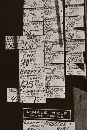 Window of an Employment Office, on Sixth Avenue Near Forty-Third Street, New York