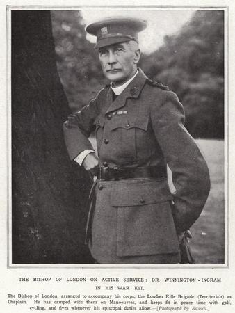 The Bishop of London on Active Service, Dr Winnington-Ingram in His War Kit
