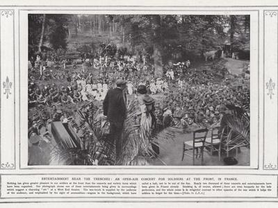 Entertainment Near the Trenches, an Open-Air Concert for Soldiers at the Front, in France