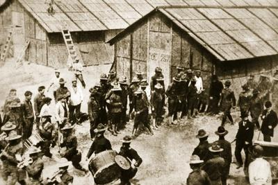 First Contigent of American Expeditionary Force Take Possession of their Barracks at St. Nazaire
