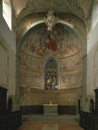 Majestas Christi, Fresco of Apse in St Peter and Paul's Church, Niederzell