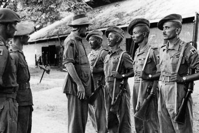 Major General Sir Frank Messervy Inspecting Indian Army Troops in Burma, 1944