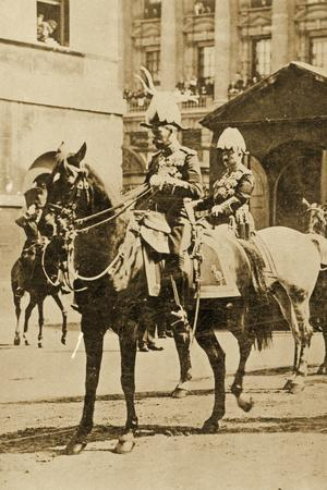 King George V and Kaiser Wilhelm II at the Funeral of Edward Vii, Postcard, 1910