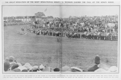 The Derby at Tattenham Racecourse Where Emily Davison Ran under the King's Horse, 1913