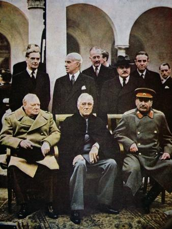 Winston Churchill, Franklin D. Roosevelt and Joseph Stalin at the Yalta Conference in February 1945