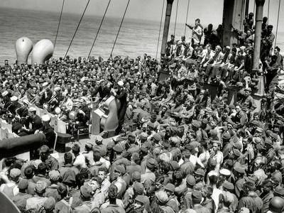 A Concert of Jazz, Bebop and Swing on the Deck of a U.S. Ship, English Channel, July 1944