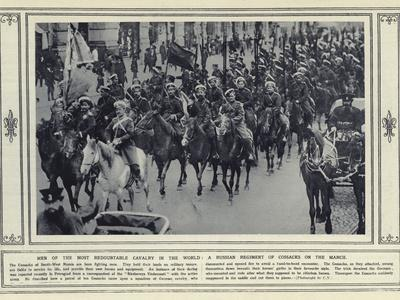 Men of the Most Redoubtable Cavalry in the World, a Russian Regiment of Cossacks on the March