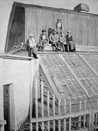 The Russian Royal Family in Bolshevik Captivity at Tobolsk, Siberia, August 1916