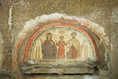Tympanum Depicting the Family of the Bishop Theotecnus, 5th-6th Century Ad