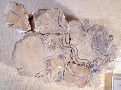 A Hunter, Fragment of a Fresco from Room 43 of the Nestor Palace from Pylos