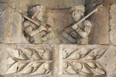 Soldiers with Halberds, Detail of Sculptural Decoration, Boistissandeau Castle