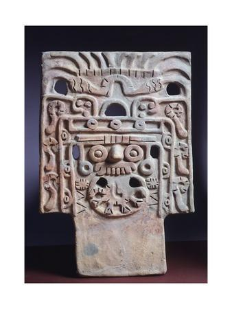 Terracotta Depicting the Rain God Tlaloc, Artifact Originating from Teotihuacan