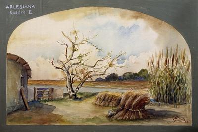 Set Design by Pirrotta for L'Arlesiana, Scene Ii, 1952, Opera by Francesco Cilea