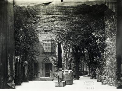 Set Design Depicting Garden of Ford's House in Falstaff, Opera by Giuseppe Verdi
