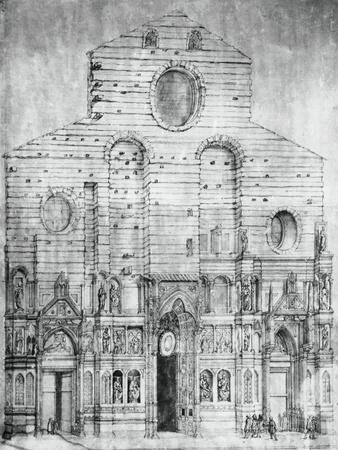 Facade of Basilica of Saint Mary of Flower in Florence, Design by Arnolfo Di Cambio