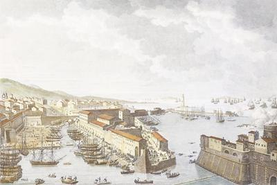 Entry of French into Livorno, June 1796, Engraving by Jean Duplessis-Bertaux