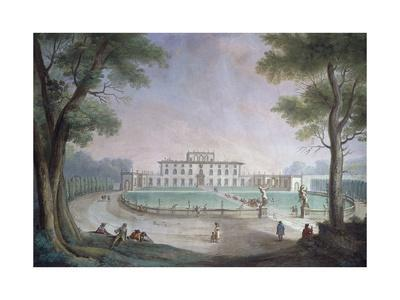 View of Villa before its Neoclassical Restructuring, Fresco by Giuseppe Zocchi