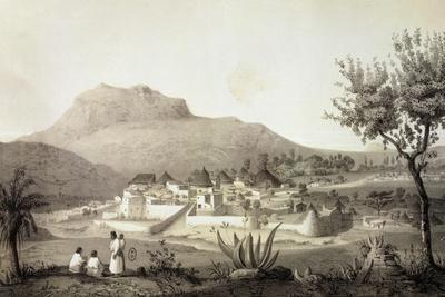 View of Adua, Capital of Tigray Province, Engraving from Drawing by Jean Vignaud