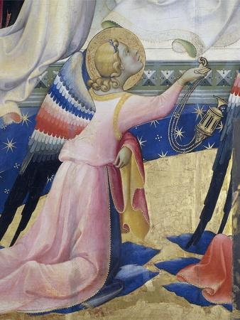 Kneeling Angel, Detail from Central Panel of Coronation of Virgin by Lorenzo Monaco
