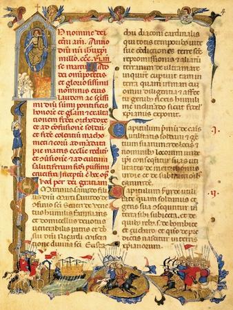 A Capital Letter from Secreta Fidelium Crucis by Marino Sanudo Know as Il Giovane