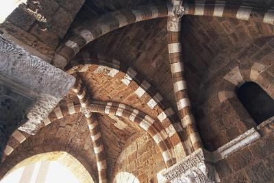 Italy, Puglia, Brindisi, Ribbed Groin Vault, Detail of Porch of De Cateniano