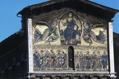 The Ascension of Christ, Mosaic on the Facade of the Basilica of St Fridianus
