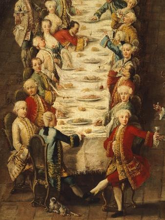Banquet in House of Nanni in Giudecca Quarter Venice, in Manner of Pietro Longhi