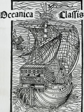 Oceanica De Classis Insulis Inventis, Engraving from Letter by Christopher Columbus