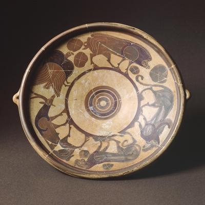 Plate by the Feoli Painter in Etrusco-Corinthian Style from the Necropolis of Vulci