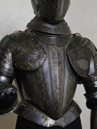 Breast Plate of Engraved and Gilded Armor, Work by Armourer Pompeo Della Cesa