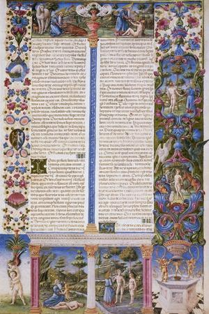 Book of Genesis, First Volume of Bible of Borso D'Este, Illuminated by Taddeo Crivelli