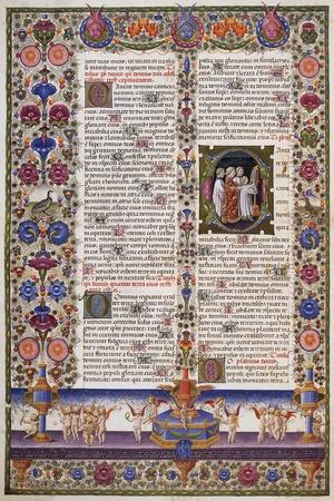 The Book of Psalms,From Volume I of the Bible of Borso D'Este,Illuminated by Taddeo Crivelli