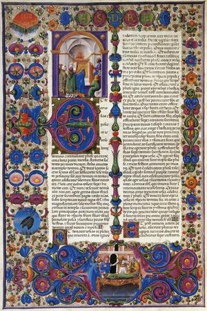 The Book of Exodus, from First Volume of Bible of Borso D'Este, Illuminated by Taddeo Crivelli