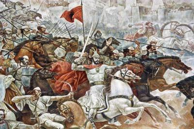 Uprising Against the Ottoman Empire. Memorial Wall Dedicated to George Kastrioti Skanderbeg