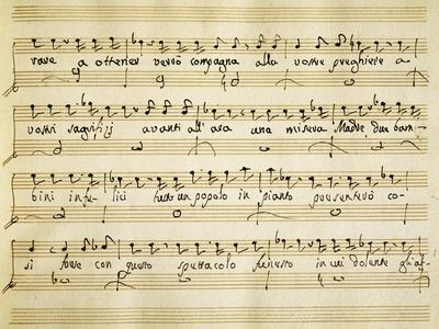 Music Sheet of Cantata for Solo Soprano Voice