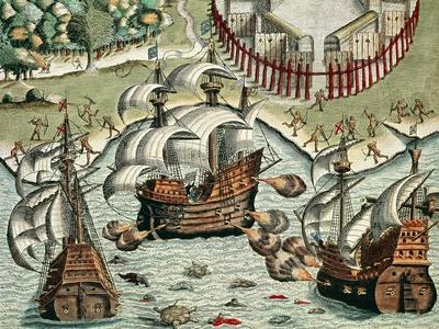 Battle Between the French and Portuguese Off Buttugar, 1562