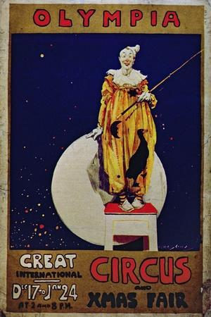 Poster Advertising 'Olympia, Great International Circus and Christmas Fair'